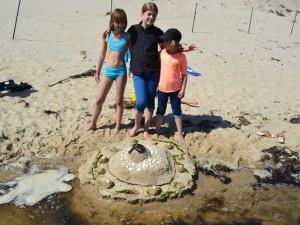 Die Sandburg ist toll geworden!
